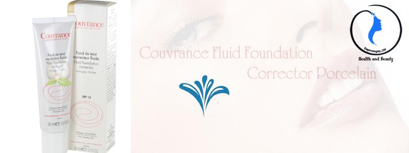 Kem nền che khuyết điểm Couvrance Fluid Foundation Corrector Porcelain 30ml