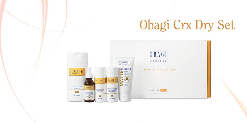 Bộ trị lão hóa dưỡng trắng da Obagi CRX Dry Set