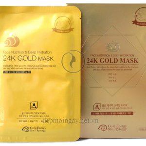 Hộp mặt nạ vàng 24K dưỡng da và tăng cường độ ẩm Gold Mask Face Nutrition Deep Hydration (10 miếng)