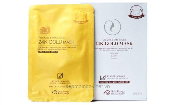 Hộp Mặt nạ vàng 24K dưỡng ẩm và se khít lỗ chân lông Gold Mask Pore Care Moisturizing (10 miếng)