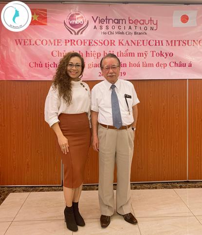 Giáo sư KANEUCHI MITSUNOBU và Doanh nhân Viên Thị Ngọc Trâm - Chuyên gia tư vấn sức khoẻ và sắc đẹp