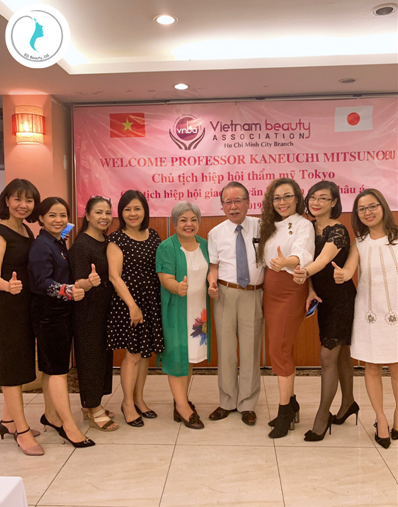 Giáo sư KANEUCHI MITSUNOBU cùng các Doanh nhân, chuyên gia trong Ngành làm đẹp