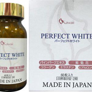 Viên uống trắng da ngăn lão hoá cao cấp Nhật Bản Kawaii Perfect White 60 viên